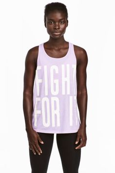 Camiseta de deporte - Lila - MUJER | H&M ES 9'99€