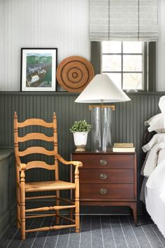 Nestled an hour outside of the Twin Cities, our Deer Lake Project is a cozy lake home filled with inviting details and an incredible collection of antique furnishings and accessories. Vintage Nightstand, Dresser As Nightstand, Bedroom Photography, Restoration Hardware Bedding, Wooden Side Table, Rustic Cottage, Shop Interiors, Chair And Ottoman, Side Chairs