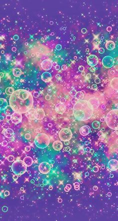 By Artist Unknown. Glitter Phone Wallpaper, Bubbles Wallpaper, Lit Wallpaper, Wallpaper Iphone Cute, Galaxy Wallpaper, Cellphone Wallpaper, Screen Wallpaper, Wallpaper Backgrounds, Colorful Artwork