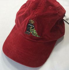 Polo Ralph Lauren Boys One Size Red Corduroy Holiday Christmas Bear Cap Polo Suits, Mens Bucket Hats, First Home Gifts, Vintage Teddy Bears, Winter Hats For Men, Unique Gifts For Men, Ralph Lauren Boys, Corduroy, Baseball Hats