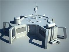 sci fi house 3D Model-   3D model sci-fi house by AlekRazum - #3D_model #Houses,#Science Fiction Structures