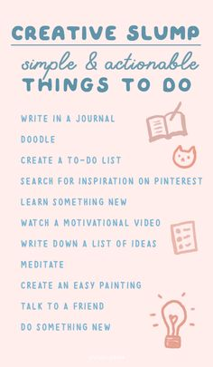 How to Break Out of a Creative Slump Lack Of Motivation, Self Discipline, Motivational Videos, Try Something New, Easy Paintings, Make More Money, Journal Ideas, Insight, Bullet Journal