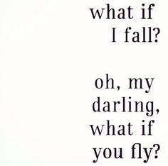 But what if you fly.