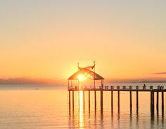 Sunsets, Gazebo, Outdoor Structures, Kiosk, Pavilion, Cabana, Sunset