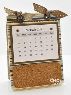 Chic n' scratch- Calendar Coaster  Corkboard
