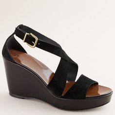 always room in the closet for another black wedge.