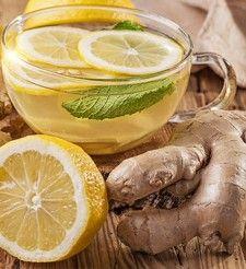 Detoxikačný nápoj so zázvorom
