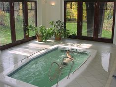 With a SwimEx in-home hydrotherapy pool your swim workouts don't have to end with the summer.