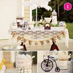 I love this old fashioned bridal shower