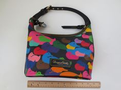 DOONEY & BOURKE $228 Handbag XXMINT Hobo Coated Special Rainbow Zipper Duck #DooneyBourke #Hobo