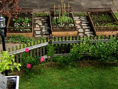Cute design for raised beds