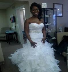We had the honor of helping Kristen find the perfect gown for her wedding day!    Bride pictured in Allure Bridals