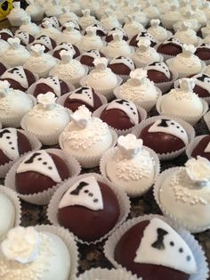 CandyCake custom wedding bride and groom cake ball truffles