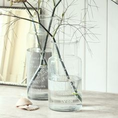 It's funny how something as simple as a couple of branches in jars of water can look so beautiful and so subtly festive.