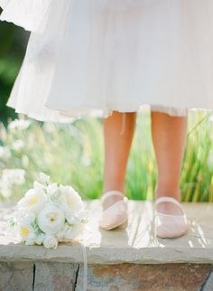 Spring Santa Barbara Wedding at Villa Sevillano Part II Flower Girl Photos, Flower Girl Dresses, Flower Girls, Girls Ballet Shoes, Ballet Flats, Wedding Blog, Wedding Day, New York Summer, Villa