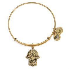 Hand of Fatima Charm Bangle - Rafaelian Gold Finish ($28) ❤ liked on Polyvore featuring jewelry, bracelets, rafaelian gold finish, alex and ani charms, hinged bracelet, bracelet bangle, bangle charm bracelet and expandable charm bangle