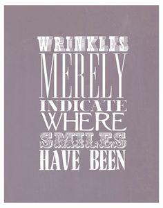 wrinkles! :-)