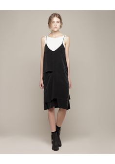 slip dress + cozy sweaters--Acne