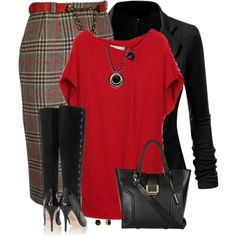 """Plaid Skirt"" by daiscat on Polyvore"