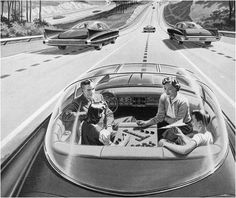 Self-Driving Car of the Future. #vintage #1950s #cars