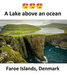 The impossible looking Lake Sorvagsvatn Faroe Islands [OC] x landscape Nature Photos Beautiful Places To Visit, Cool Places To Visit, Places To Travel, Travel Destinations, Places Around The World, Oh The Places You'll Go, Belle Photo, Vacation Spots, Wonders Of The World