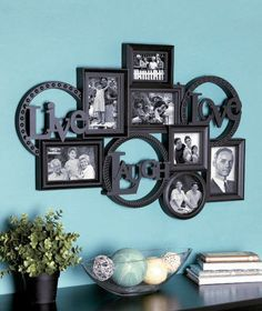 LIVE LAUGH LOVE PHOTO COLLAGE PICTURE WOOD WALL FRAME DISPLAY HOME ART DECOR New