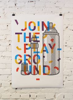 Join the playground poster design