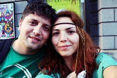 Happy couple! Dreadlocks, Couples, Hair Styles, Happy, Beauty, Hair Plait Styles, Hair Makeup, Couple, Hairdos
