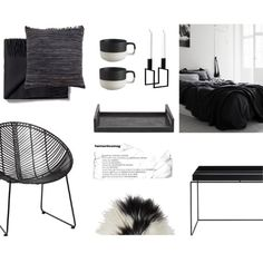 Scandinavian Black by nmkratz on Polyvore featuring polyvore, interior, interiors, interior design, home, home decor, interior decorating, Toast, CB2, Ginger Brown and By Lassen