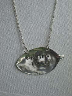 Stamped Vintage Spoon Necklace  Gypsy Style   $15 www.laughingfrogstudio.etsy.com