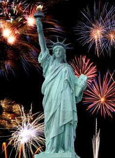 Photo about The Statue of Liberty and July Firework in New York City. Image of history, beauty, attraction - 4782164 And July, Happy 4 Of July, 4th Of July Fireworks, Fourth Of July, Fireworks Cake, New York Noel, New York Theme, Jolie Photo, I Love Ny