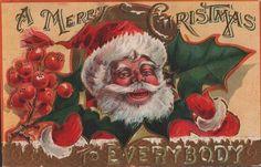 #Christmas #vintage #postcard #Santa #St Nick
