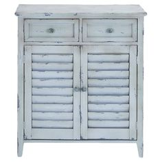 Distressed wood side cabinet