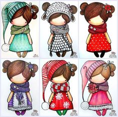Doll clothes & doll clothes patterns &doll patterns by AlinaDollsDesigns Cute Images, Cute Pictures, Kawaii, Doll Clothes Patterns, Digital Stamps, Cute Illustration, Cute Drawings, Paper Dolls, Cute Art