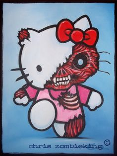 my first ever zombie related post to this blog was to show you a zombified hello kitty, that i'd painted for a friends birthday [link]. and since then it's been the 2nd most popular sea…