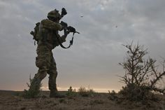 A Ranger from 2nd Battalion, 75th Ranger Regiment...