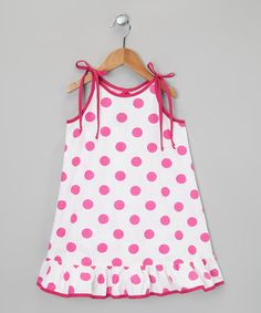 Take a look at the White & Pink Polka Dot Dress - Infant, Toddler & Girls on #zulily today!