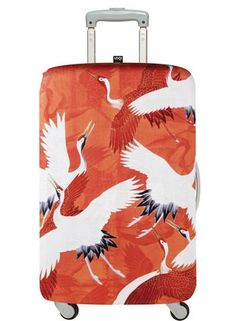 Luggage Cover Wright Pattern Protective Travel Trunk Case Elastic Luggage Suitcase Protector Cover