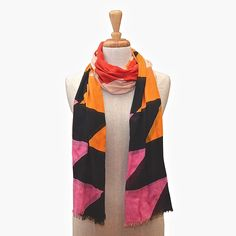 This fun multi-coloured geo print scarf will add a pop of colour to your outfit this coming season. Can be worn as a scarf or a wrap. Color Pop, Bird, Outfits, Fashion, Moda, Colour Pop, Suits, Fashion Styles, Birds