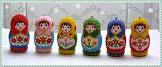Новогодние матрешки и колокольчики | biser.info - всё о бисере и бисерном творчестве