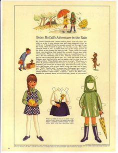 Betsy McCall's adventure in the rain....September 1968