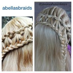 If I had to name one favourite hair account, it would be @abellasbraids . This is one of my first recreations from @abellasbraids when I found the account last autumn. Katie's braid on the left, mine on the right.  Sorry @braidingzoe : all my entries  to your contest are old photos, but I think they kind of tell a story of my braiding influences... And this week I've had no time for other than gymnastics hair!!