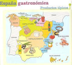 Mapa: España gastronómica