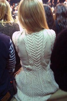 Alexander McQueen Aran-knit dress