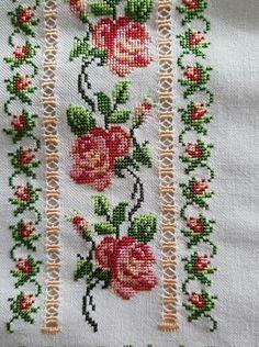 Cross Stitch Borders, Cross Stitch Flowers, Cross Stitch Patterns, Hand Embroidery Design Patterns, Baby Knitting Patterns, Floral Tie, Pattern Design, Small Cross Stitch, Herb