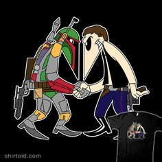 Shop Hunter Vs Smuggler friends t-shirts designed by as well as other friends merchandise at TeePublic. Spy Vs Spy, Friends Merchandise, Han Solo And Chewbacca, Cartoon Crossovers, Thing 1, Star War 3, Star Wars Boba Fett, Star Wars Tshirt, Star Wars Humor