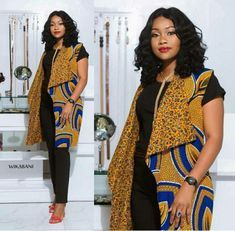 Best of Ankara Jackets 2020 ~ Switch Afrique African Wear Dresses, Latest African Fashion Dresses, African Print Fashion, African Attire, African Blouses, African Tops, African Style, Afro, Mode Kimono