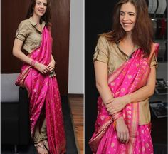 Kalki # Ritu Kumar # draped saree# fusion look
