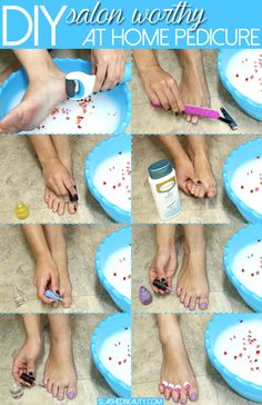 Salon Worthy DIY Pedicure Tutorial Doing at home pedicures can save you a ton of money while keeping your feet healthy and soft. Check out my salon worthy DIY pedicure routine. Pedicure Soak, Pedicure Colors, Pedicure At Home, Pedicure Designs, Foot Detox Soak, Diy Outdoor Weddings, Feet Care, Manicure And Pedicure, Diy Nails