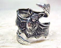 Bat Ring Vampire Ring Goth Jewelry Gothic Jewelry by sandrandan, $14.00